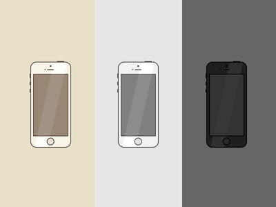 iPhone 5s iphone5s icon illustration flat
