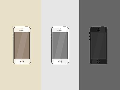 iPhone 5s iphone5s icon illustration flat