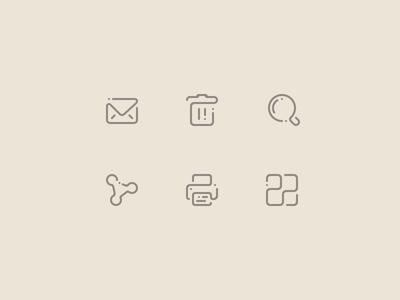 [WIP] Icons icon line stroke dot glyph