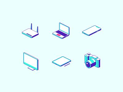 Isometric Devices devices isometric icon