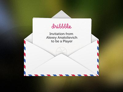 Invitation white mail dribbble