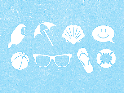 Summer summer icons