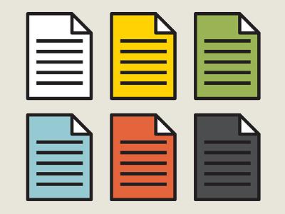 Papeletas paper palette folder sheet