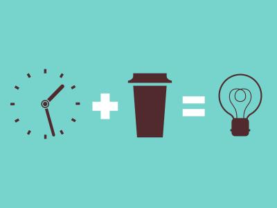 Formula formula coffe icon idea bulb clock