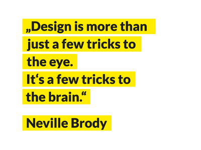 Neville Brody inspiration quote