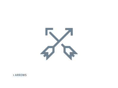 Arrows Icon minimalistic line archery arrow icon