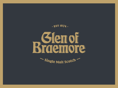 Glen of Braemore Logo branding logo whiskey