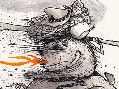 I did Nothing charles santoso pen ink tribute illustration art