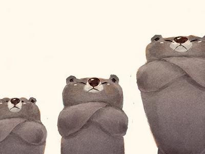Bearbearbear illustration art digital charles santoso