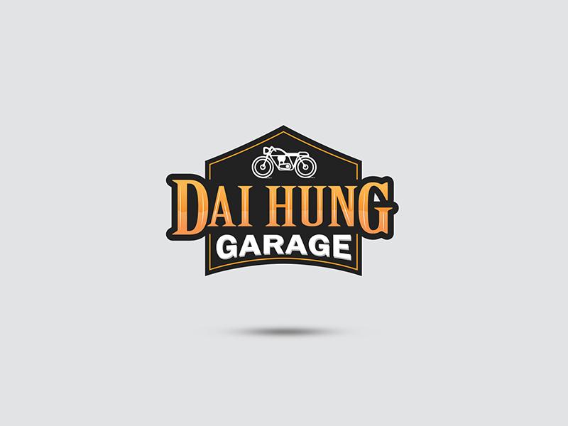 Dai Hung Garage lettering type typography logo