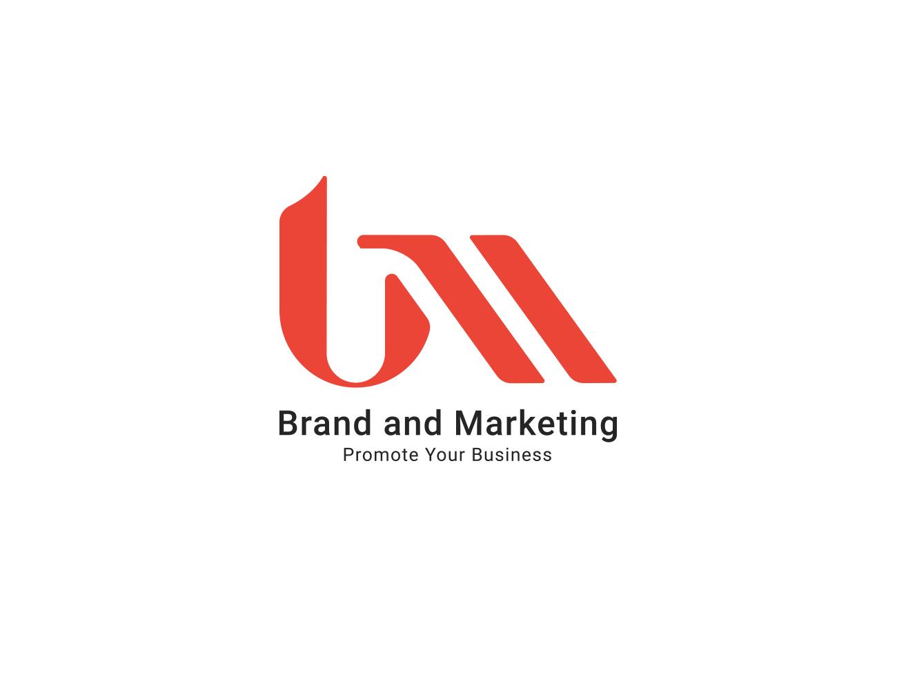 BNM Brand & Marketing graphic identity  mark  symbol identity type design vector illustration businesslogo brand mark branding typography logo
