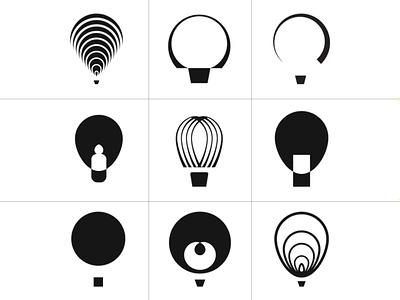 Air Balloon graphic variants identity branding icon logotype design symbol graphic logo vector airballoon balloon air