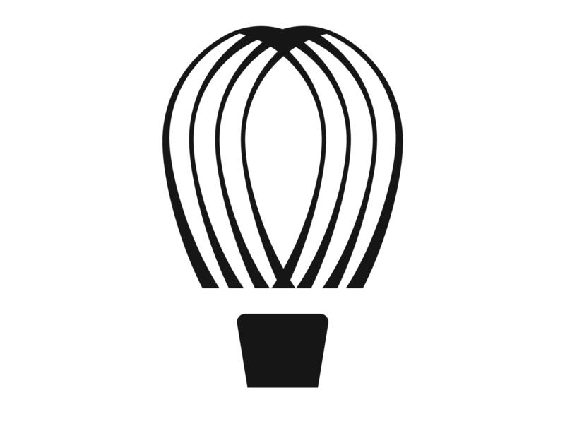 Hot Air Balloon Logo identity vector icon graphic designer logotype branding symbol sign logo air balloon hotairballoon