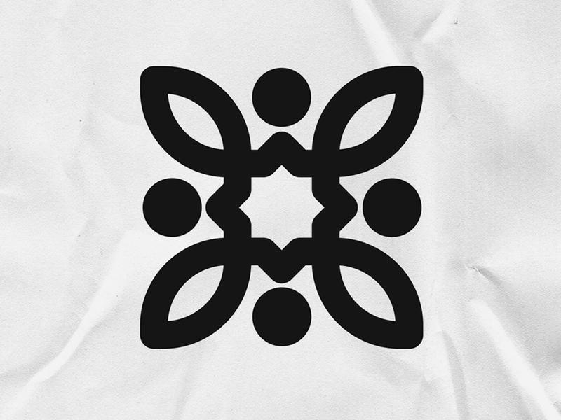 Flower LOGO experiments branding logotype icon graphic flower design vector logo mark symbol