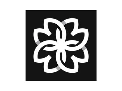 New FLOWER symbol sign designer flowers icon monogram logotype identity vector design logo branding flower symbol