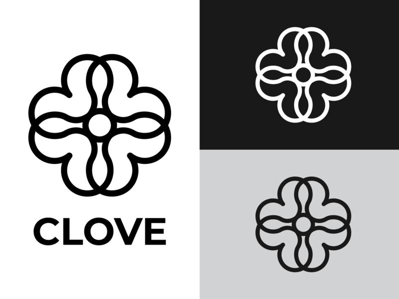 Сlover+Love LOGOTYPE identity branding designer symbol design vector logotype logo love