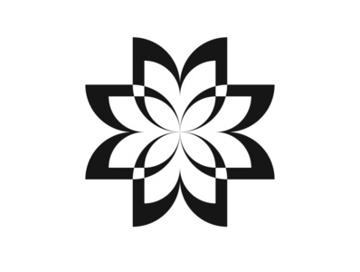 Flower (experiments with forms) logotype flora minimal flower logo graphic designer illustration future flowers identity symbol logo branding vector design