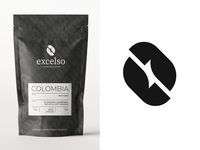 Final Excelso (coffee roasters) logo concept + branding.