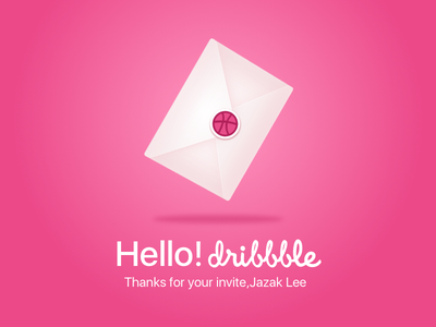 Dribbble First Shot letter illustration envelope