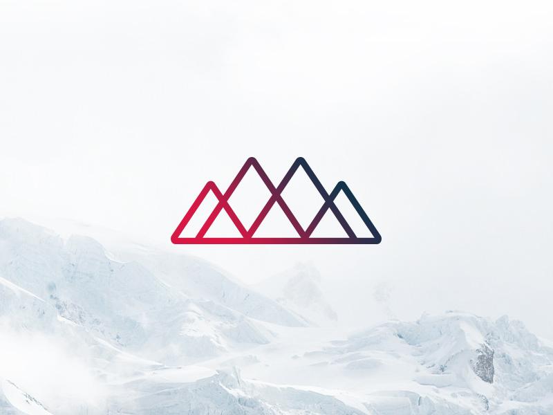 7 Summits v.2 mountains branding logo summits seven line