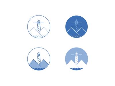 Lighthouse mono water icon illustricon illustration mountain lighthouse