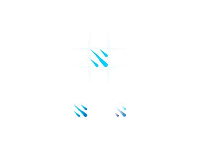 RainDrops mono mark logo icon drops rain motion brand identity 3d gradient