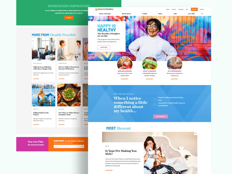 Hospital Health Care Wellness & Education Website and Blog