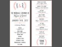 Double Sided Wedding Program Design