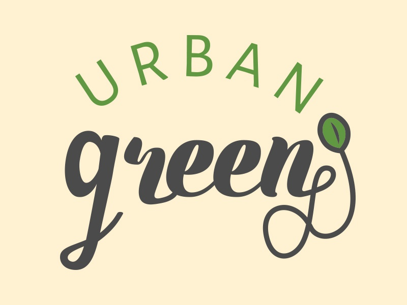 Urban Green Logo Design modern green art graphic design design logos typography logo