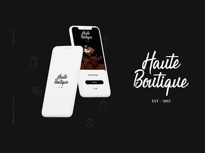 Haute Boutique ux ui uidesign mobile interface graphic chocolate design app ui app design app