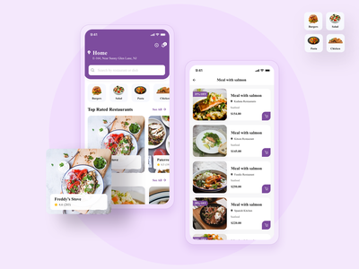 Food Delivery App iphone app development illustration app ui mobile app development delivery app design restaurant food mobile app food delivery app app