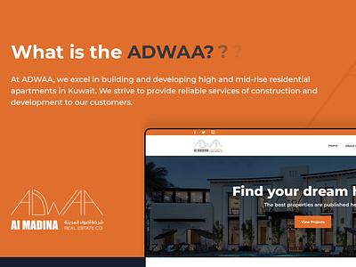 ADWAA-Real Estate Company construction realestate ui web design website