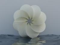Experimental Flower illustration 3d blender