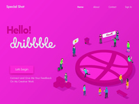 Hello Dribbble Home Page