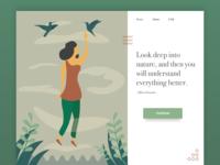 Nature Web Page UI