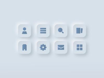 Minimalist Skeuomorphic Icon