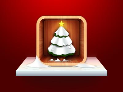 Christmas Tree  christmas tree icon iphone app ui table wood