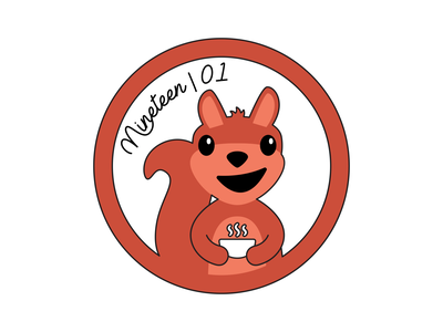 Sticker Design   Squirrel logo icon vector college sticker squirrel university nashville illustration design branding