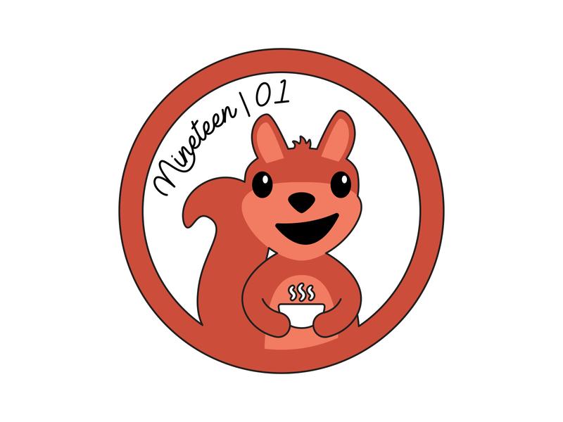 Sticker Design | Squirrel logo icon vector college sticker squirrel university nashville illustration design branding