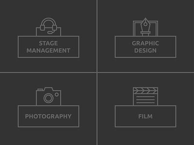 Icon Design   Website film photography graphic design stage management minimalist minimal web app icon nashville ui simple illustration vector design branding