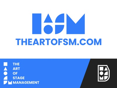Logo Design | THEARTOFSM.COM brand identity geometric design shapes blue modern stage management theatre icon vector color simple logo design logo design branding