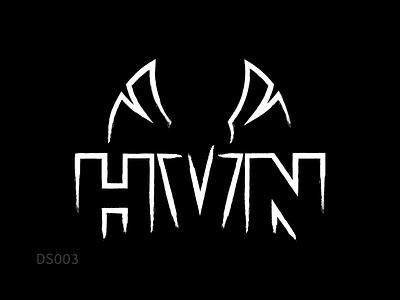 Logo Design   HVN (EDM Band) logo design branding heaven hvn wings phoenix dj band edm music logo