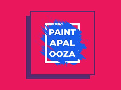 Event Branding   Paintapalooza nashville welcome week event university college color illustration typography design branding