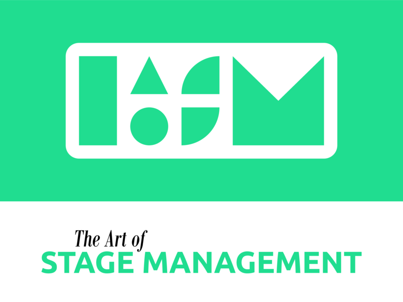 Logo Design | The Art of Stage Management modern illustration nashville green design theatre stage management shapes simplicity simple vector geometric design logotype logo design logo icon design icon brand identity brand design branding