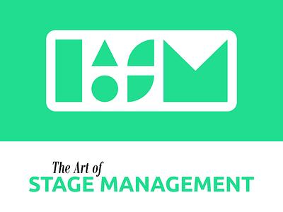 Logo Design   The Art of Stage Management modern illustration nashville green design theatre stage management shapes simplicity simple vector geometric design logotype logo design logo icon design icon brand identity brand design branding