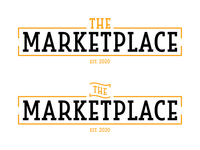 Logo Design | The Marketplace orange cafeteria food service marketplace typography simple university vector college logo design logo illustration design branding