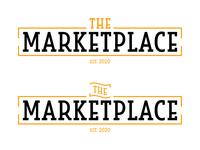 Logo Design | The Marketplace orange cafeteria food service marketplace typography simple university vector college logo design logo illustration design branding