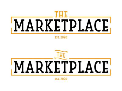Logo Design   The Marketplace orange cafeteria food service marketplace typography simple university vector college logo design logo illustration design branding