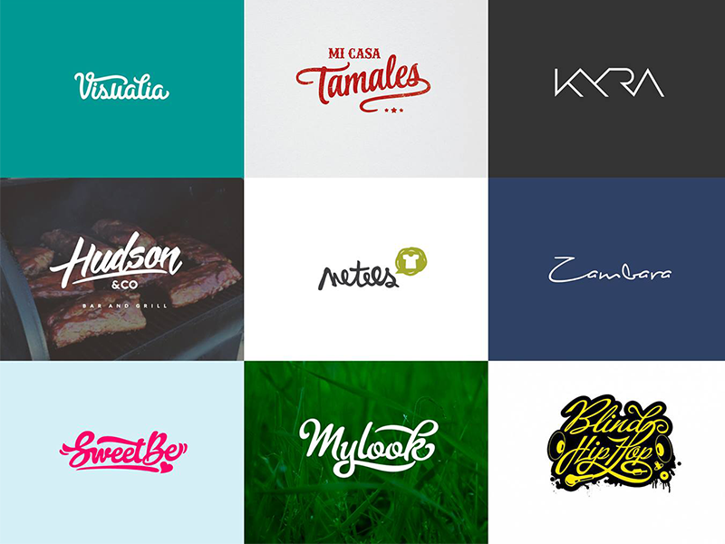 Lettering logos v 2 by Flip on Dribbble