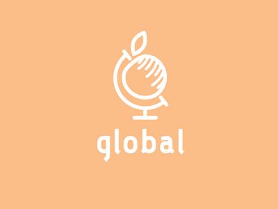 global company import globe logotype logo fruit apple